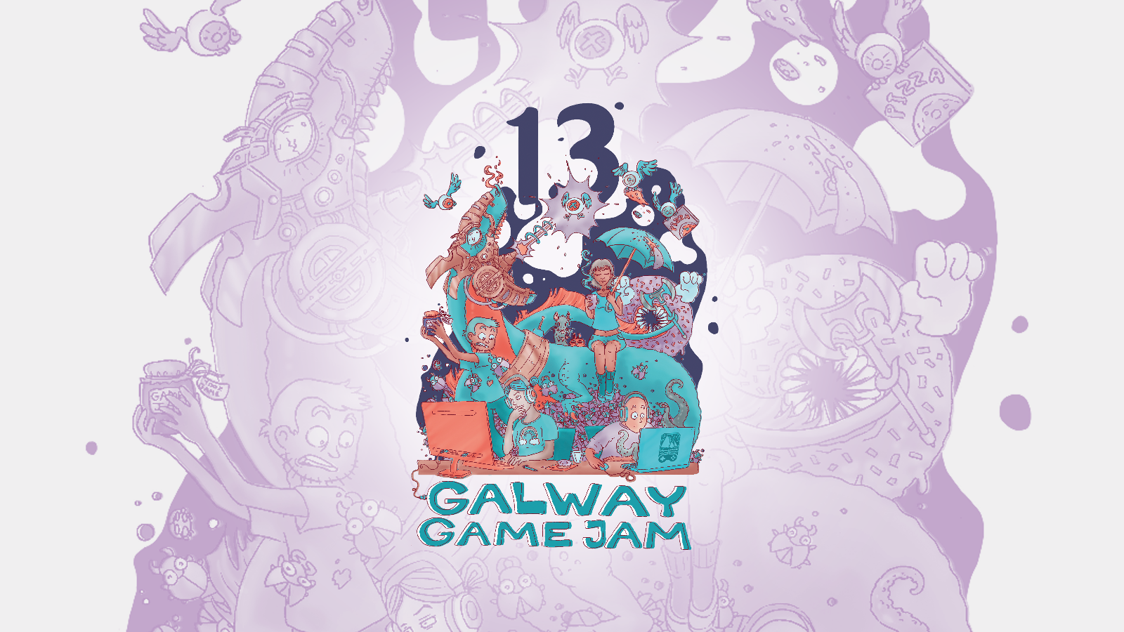 Galway Game Jam 13 Poster by Tia Friedel, GreenRat