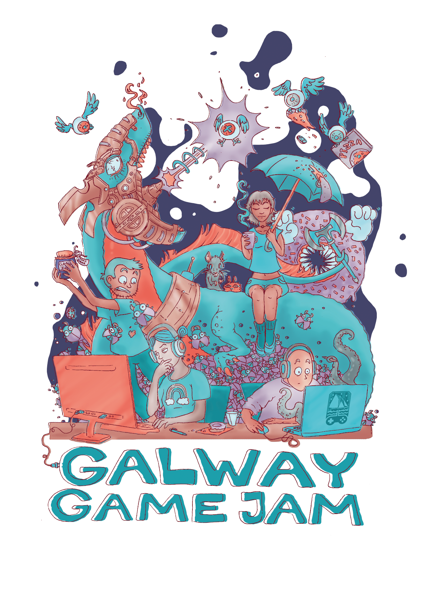 Galway Game Jam 14 poster